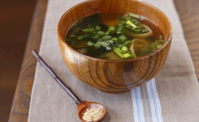 乾燥生姜と味噌汁