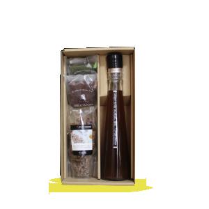 【贈答箱入り】ジンジャーシロップ琥珀200ml-ブラウニー2個-生姜糖
