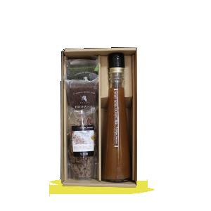 【贈答箱入り】ジンジャーシロップ黄金200ml-ブラウニー2個-生姜糖