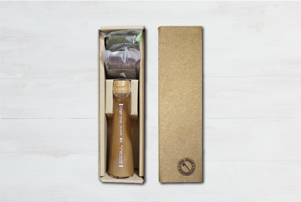 【贈答箱入り】ジンジャーシロップ黄金100ml&ブラウニー2個