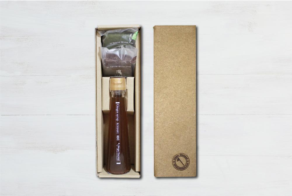 【贈答箱入り】ジンジャーシロップ琥珀100ml&ブラウニー2個