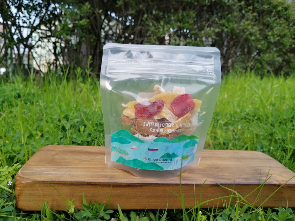 生姜糖と瀬戸内季節のドライフルーツ 55g